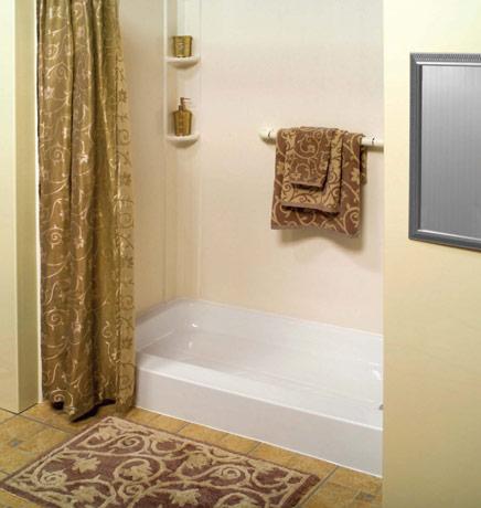 Nashville bath remodeling bath shower wraps bath tub for Shallow tub shower combo
