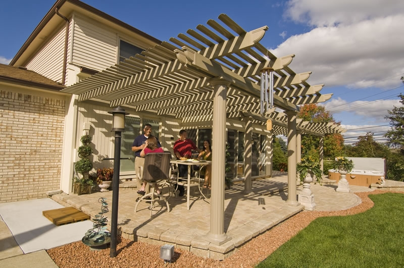 Pergola Backyard America : Nashville Patio Covers, Pergolas & Pavilions  American Home Design in